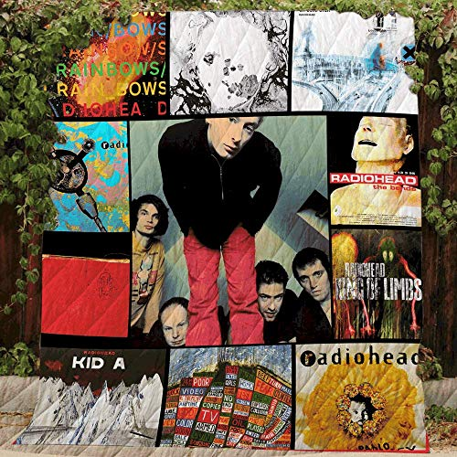 Cotton Album Quilt - Radiohead Albums - Quilt R207, Queen All-Season Quilts Comforters with Reversible Cotton King/Queen/Twin Size - Best Decorative Quilts-Unique Quilted for Gifts