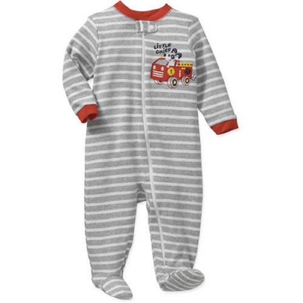 d7d7e4733 Garanimals Baby Boy Sleepers Footed Sizes Newborn - 12 Month - Grey ...