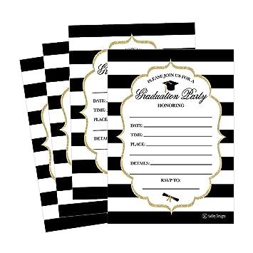 amazon com 25 elegant graduation party announcement invitations for