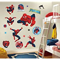 Dengxiny Cartoon Spiderman Wall Stickers For Kids Rooms Wall Decals Home Decor Wall Paper Mural For Boys' Room Decor