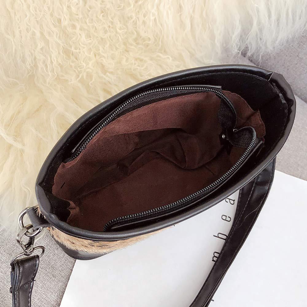 iHAZA Sac /à Bandouli/ère L/éopard Pour Femme Tote Bag Wild Messenger Sac Vintage