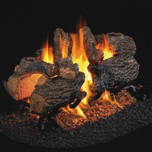 Peterson Real Fyre 30-inch Charred Oak See-thru Log Set With Vented Natural Gas G45 Burner - Match Light (Vented See Natural Thru)