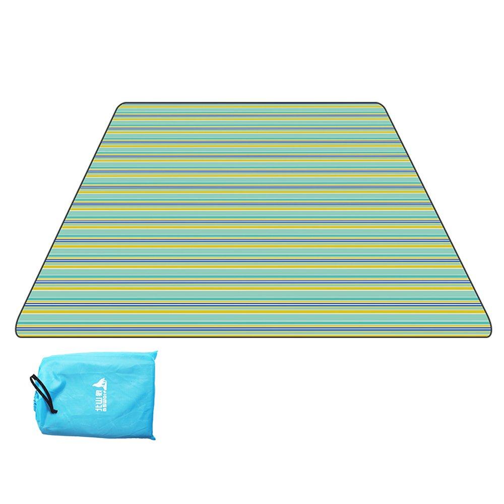 Coco Al Inglaterra Aire Libre de Inglaterra Al Tela Escocesa de Rayas Impermeable Oxford Tela Picnic Mat Moisture Pad Portable Plegable Bolsa 200  200 cm (Color : 3) acf180