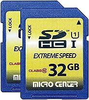 Tarjeta de memoria flash SDHC Clase 10 de 32 GB por Micro Center (2 unidades)