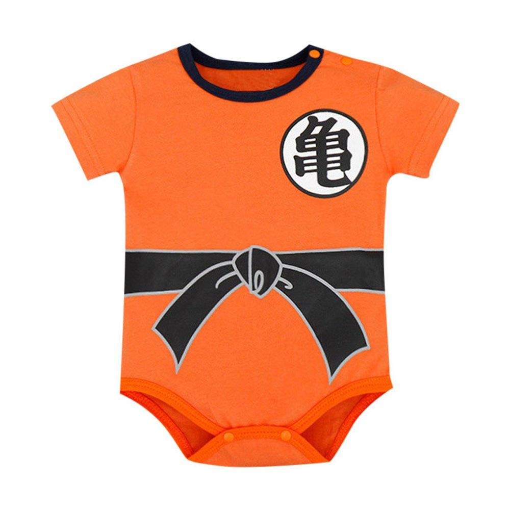 Infant Newborn Baby Boy Girl Jumpsuit Short Sleeve Romper Letter Playuit Outfits Clothes Set (Orange-A, 0-6 Months) by Drindf Baby Clothes (Image #1)
