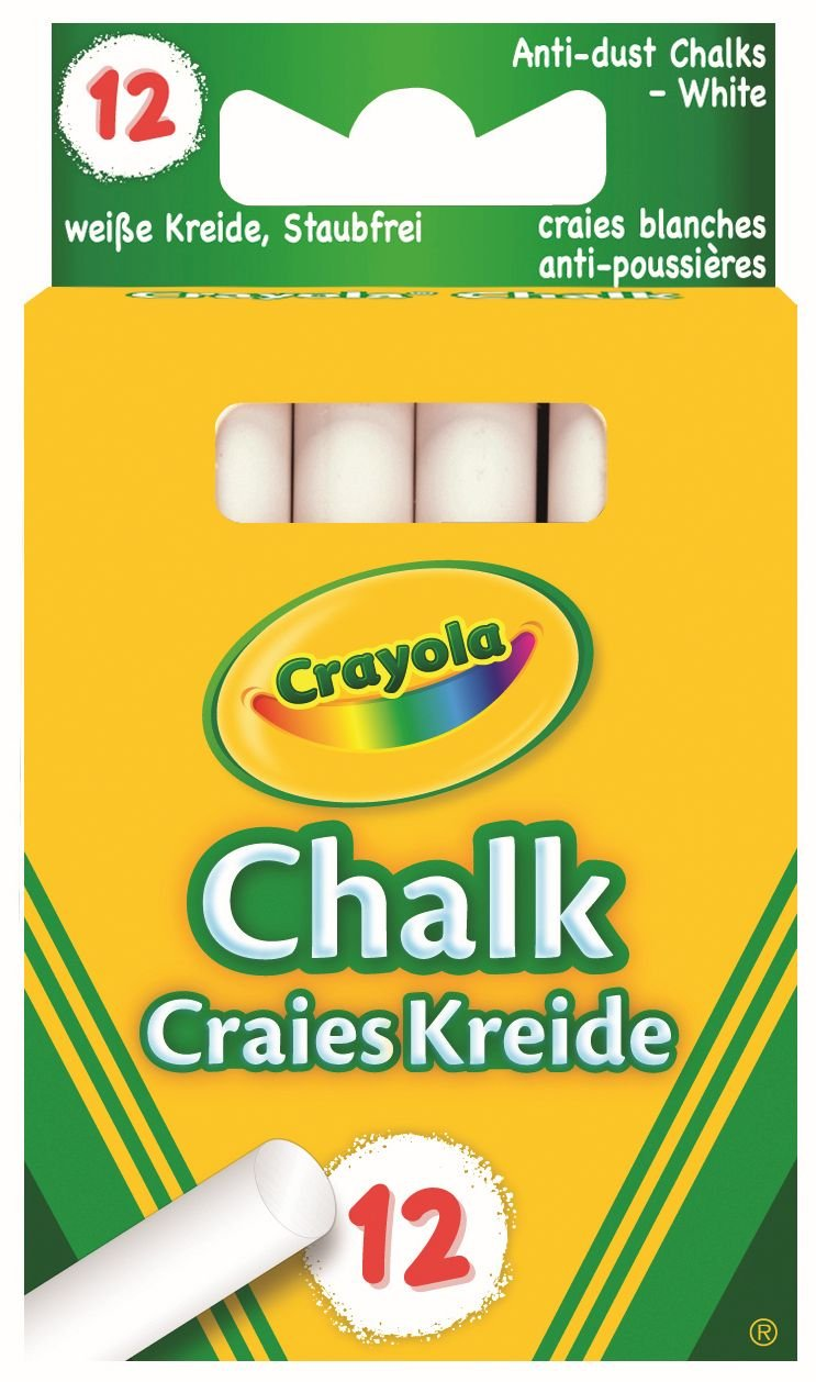 Crayola - Anti Dust 01.0280.10 White Chalk Arts_and_Crafts Crayola Ages 3 - 7 School Accessories