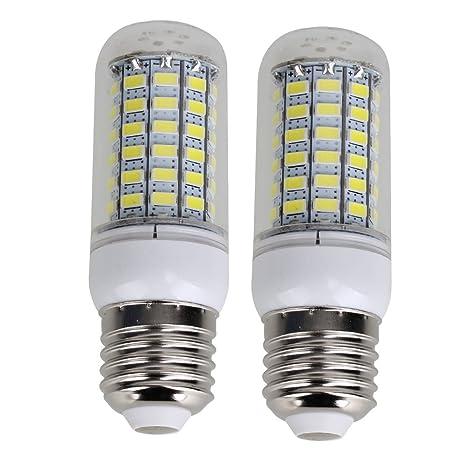E27 20 W 69 LED 5730 SMD bombilla tipo maíz, color blanco puro AC 220