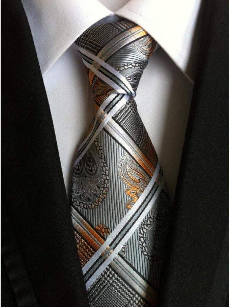 Gran Venta NA Nuevo 60 Tie Striped Tie Hombres Clásico Negocio High Latitude Density Flower Pattern Tie Accesorios de Boda Y-10 1uldB6
