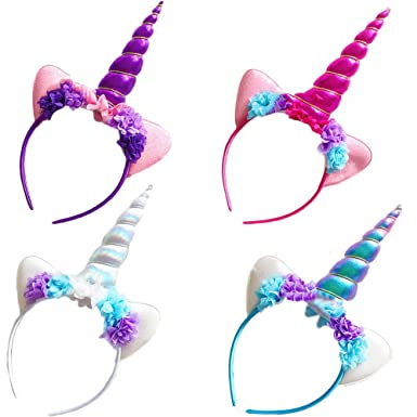 Amazon.com  ACTLATI Women Girls Unicorn Cat Ears Headband Christmas  Halloween Party Flowers Hairband  Clothing f18b0bd80743