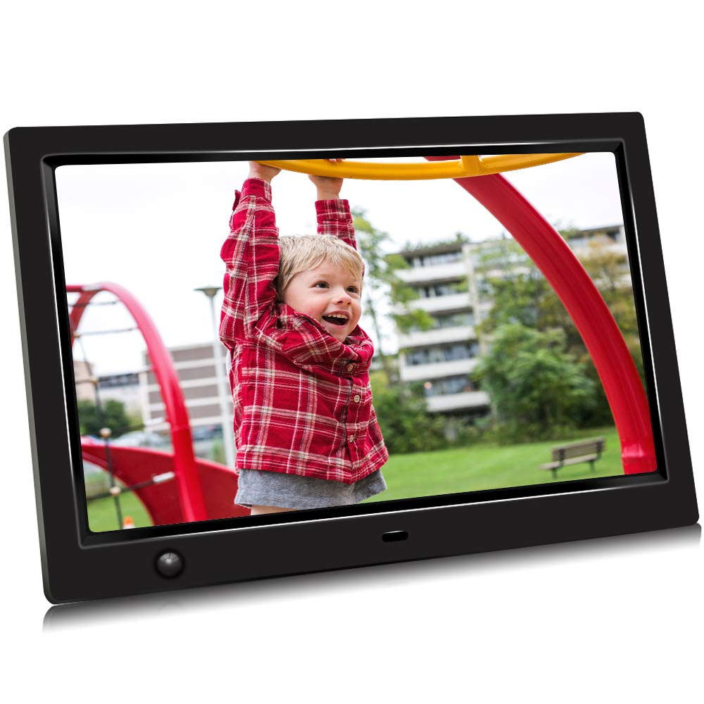 GRC 10.1 Inch IPS 1080P HD Display Digital Photo Frame with Motion Sensor and Remote Control, Video Player/Stereo/ MP3/ Time, Digital Picture Frame Support USB SD Slot by GRC