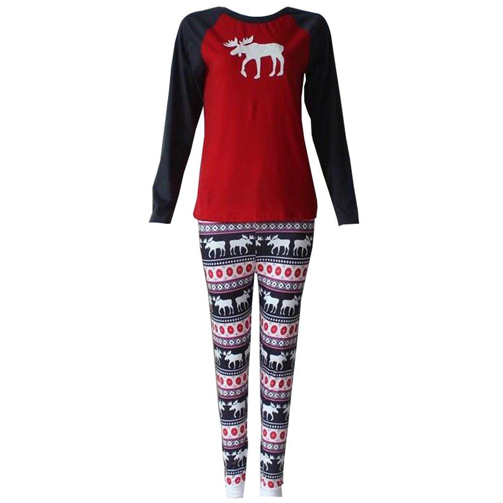 KINDOYO Christmas Deer Pajamas Sleepwear Clothes Pants Set for Kids