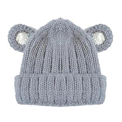 799aadeceff0 Tangbasi pour tout-petits enfants bébé Bonnet en tricot d hiver Chapeau de  bébé