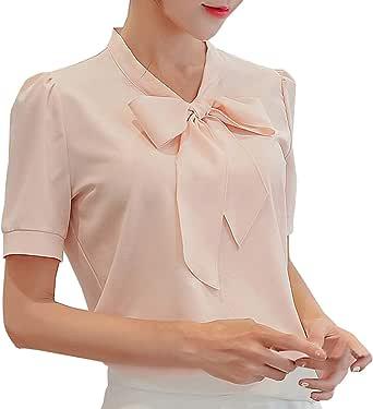 Blusas de Gasa para Mujer, Blusa de Verano para Trabajo ...