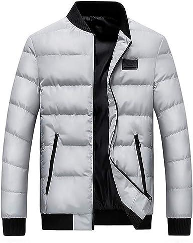 waotier Abrigo de algodón Hombre Chaquetas de Invierno Chaqueta de Abrigo Acolchada Cazadora Soft Exterior a Prueba de Viento: Amazon.es: Ropa y accesorios