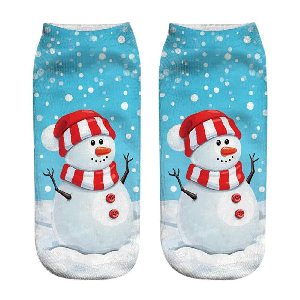 WUAI Clearance Sale,Mens & Womens Novelty Holiday Halloween Christmas Funny 3D Fashion Printed Casual Warm Socks(I,Free Size)