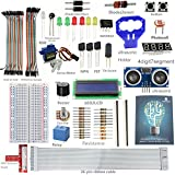SunFounder LCD Ultrasonic Relay Sensor Electronic Bricks Starter Kit w/ 26-Pin GPIO Extension Board, 1602 LCD, Breadboard, Jumper wires, Servo Motor, Relay, Resistors, Buzzer for Raspberry Pi