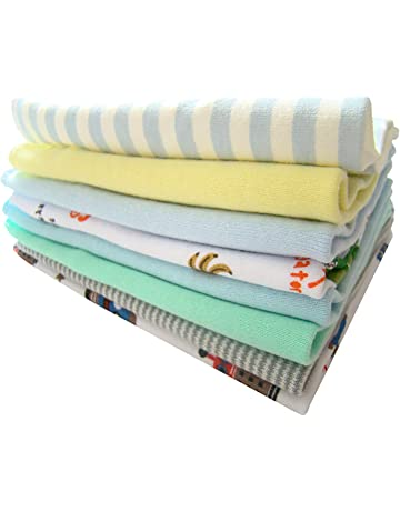 8 pcs colorido suave de algodón toalla de baño del bebé recién nacido pequeño pañuelo de
