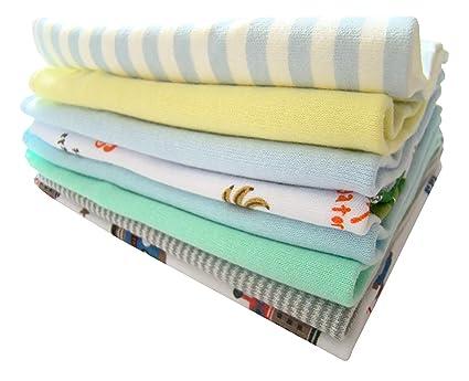8 pcs colorido suave de algodón toalla de baño del bebé recién ...