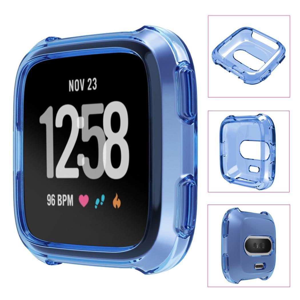 Xshuai TPU souple protection Coque complète en silicone pour Fitbit Versa