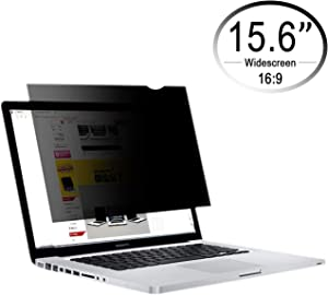 CenterZ 15.6 inch 16:9 Laptop Screen Privacy Filter, Removable Reusable Antiglare 60° Visible Angle Widescreen Monitor Protector Film for Lenovo, Dell, Samsung, HP, Acer Notebook (Black, 344x194)