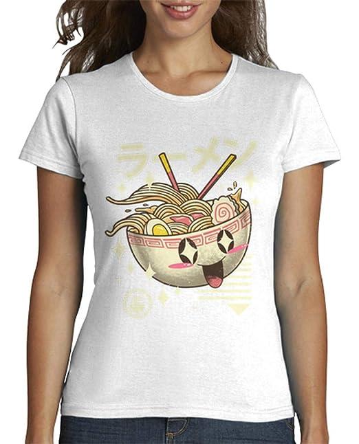 latostadora - Camiseta Kawaii Ramen Camisa para para Mujer Blanco XL: vp021: Amazon.es: Ropa y accesorios