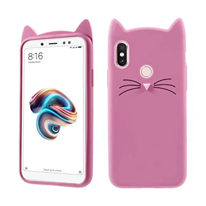 buy online f3356 b5c4c Case Creation Xiaomi Mi A2 Cat Covers,Cute 3D Mustache: Amazon.in ...