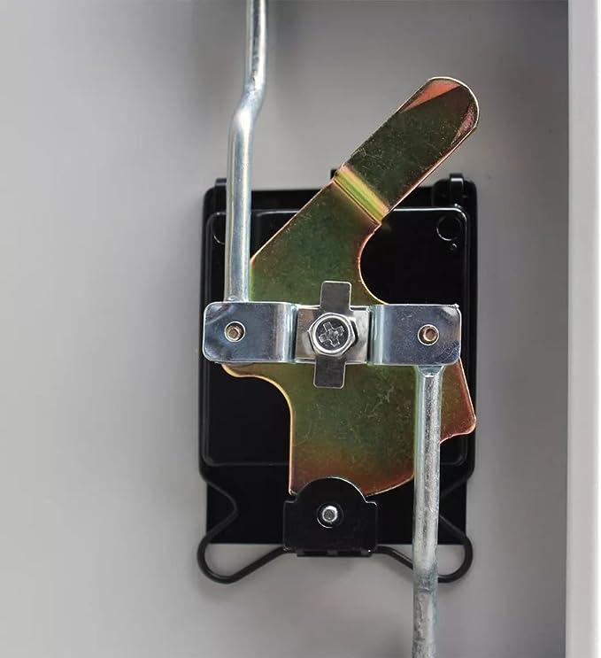 Gris yorten Armoire de Bureau M/étallique Classeur en Acier avec 2 Portes et 3 /étag/ères R/églables 90 x 40 x 140 cm l x P x H