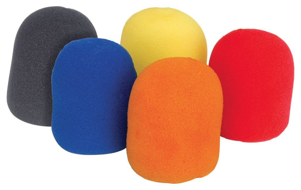 COLOURED MICROPHONE WINDSHIELDS/PACK OF 5 (MULTI-COLOURED) SKYTEC 188.013