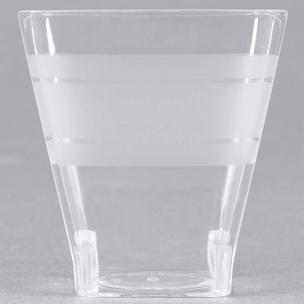 Fineline Wavetrends 1102 Clear Plastic Shot Glass 2 oz. - 432/Case by Fine-line