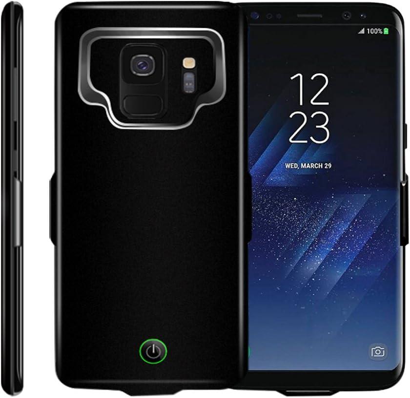 Idealforce Schutzhülle für Samsung Galaxy S9S9 Plus mit Akku Ladegerät, 7000 mAh, externe, magnetische Powerbank, tragbare Ladehülle für Samsung