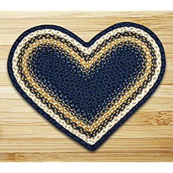 "Earth Rugs 10-079 Rug, 20 by 30"", Light Dark Blue/Mustard"