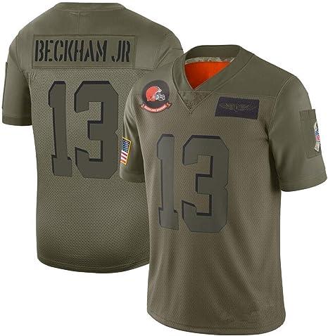 cjbaok NFL T-Shirt Cleveland Browns # # 6# 13 Jersey de fútbol ...