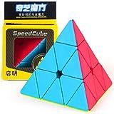 CuberSpeed QiYi Qiming Pyramid Stickerless Magic Cube MoFangGe Qiming Pyramid Stickerless Speed Cube