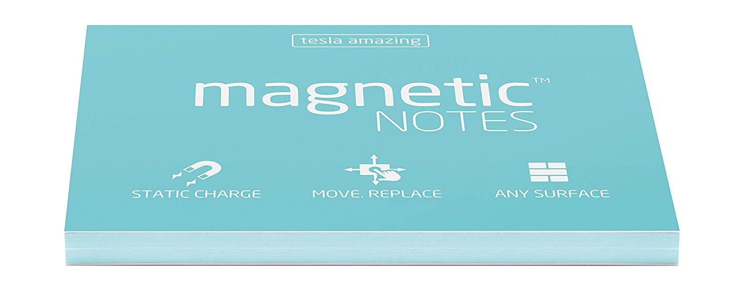 Aqua Pastel Tesla Amazing Magnetic Notes 100 x 70mm Pack of 100