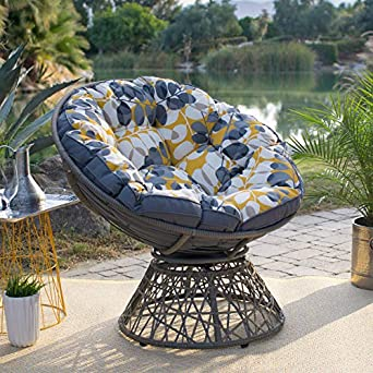 Fine Amazon Com Outdoor Papasan Chair Reversible Cushion Large Andrewgaddart Wooden Chair Designs For Living Room Andrewgaddartcom