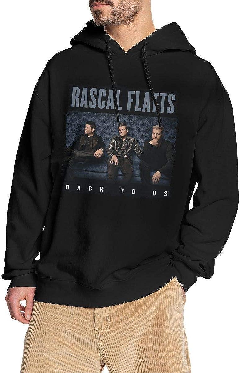 Nanatang Rascal Flatts Back to Us Mens Long Sleeve Sweatshirts Simple Black