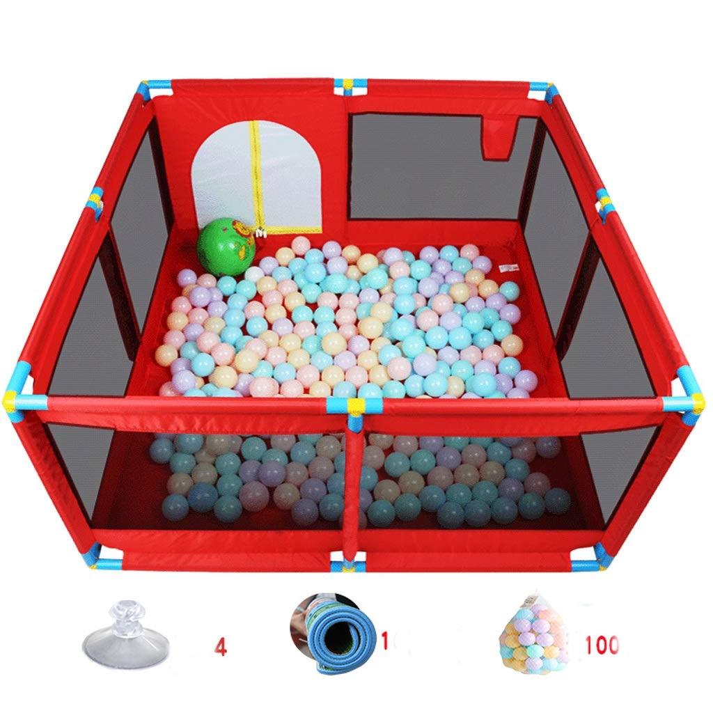 赤ちゃん安全幼児クロールマットフェンスおもちゃの子供のフェンス屋内の家庭の赤ちゃんゲームフェンスフェンス SHWSM (Color : Red) B07TB4P1FJ Red