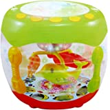 Webby Battery Operated Flash Drum with Rotating Lamp Light & Musical Instrument Sounds