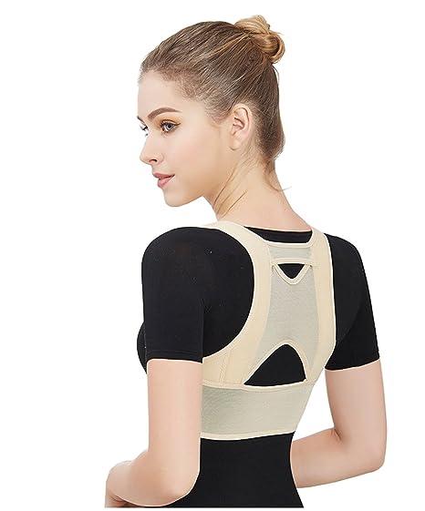 Drizzle Corrector de Postura Espalda Mujer mejorar el jorobado Ajustable Soporte de Espalda Alivie el Dolor