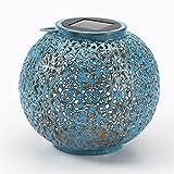 Riad Solar LED Outdoor Lantern - Blue/Teal