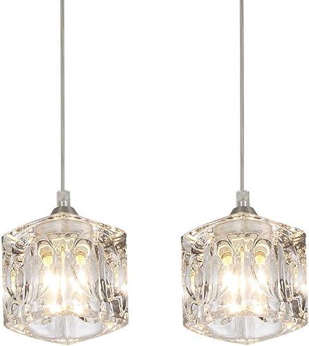 COTULIN Set of 2 Modern Cute Mini Crystal Pendant Light,Pendant Lighting Fixture for Living Room Dining Room Bedroom