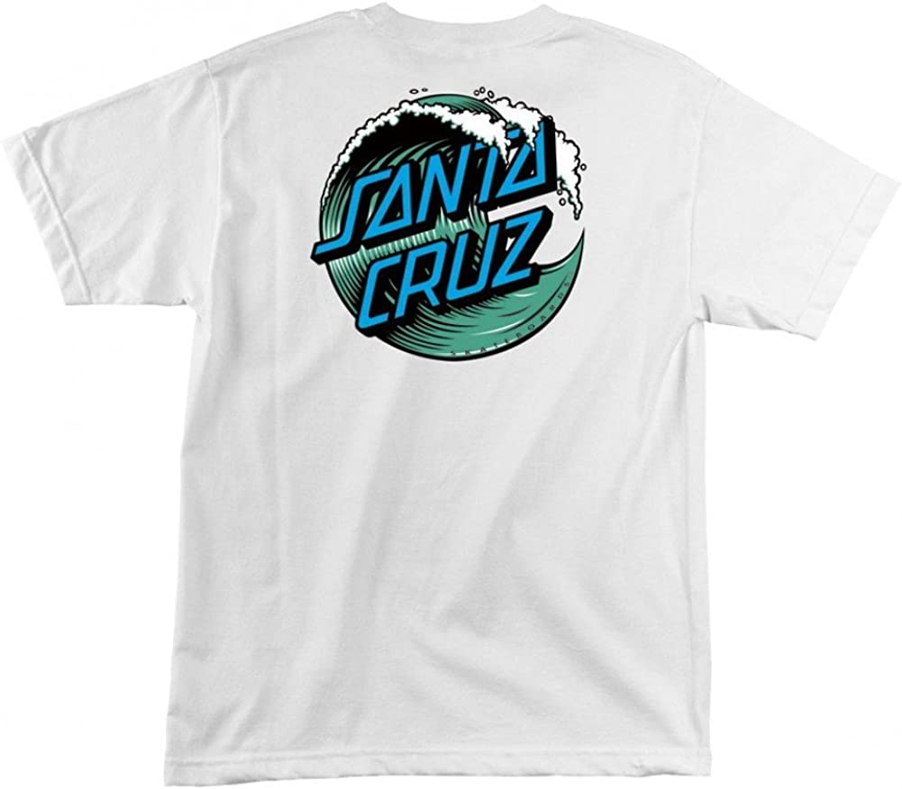 Santa Cruz Mens Wave Dot Short-Sleeve Shirt
