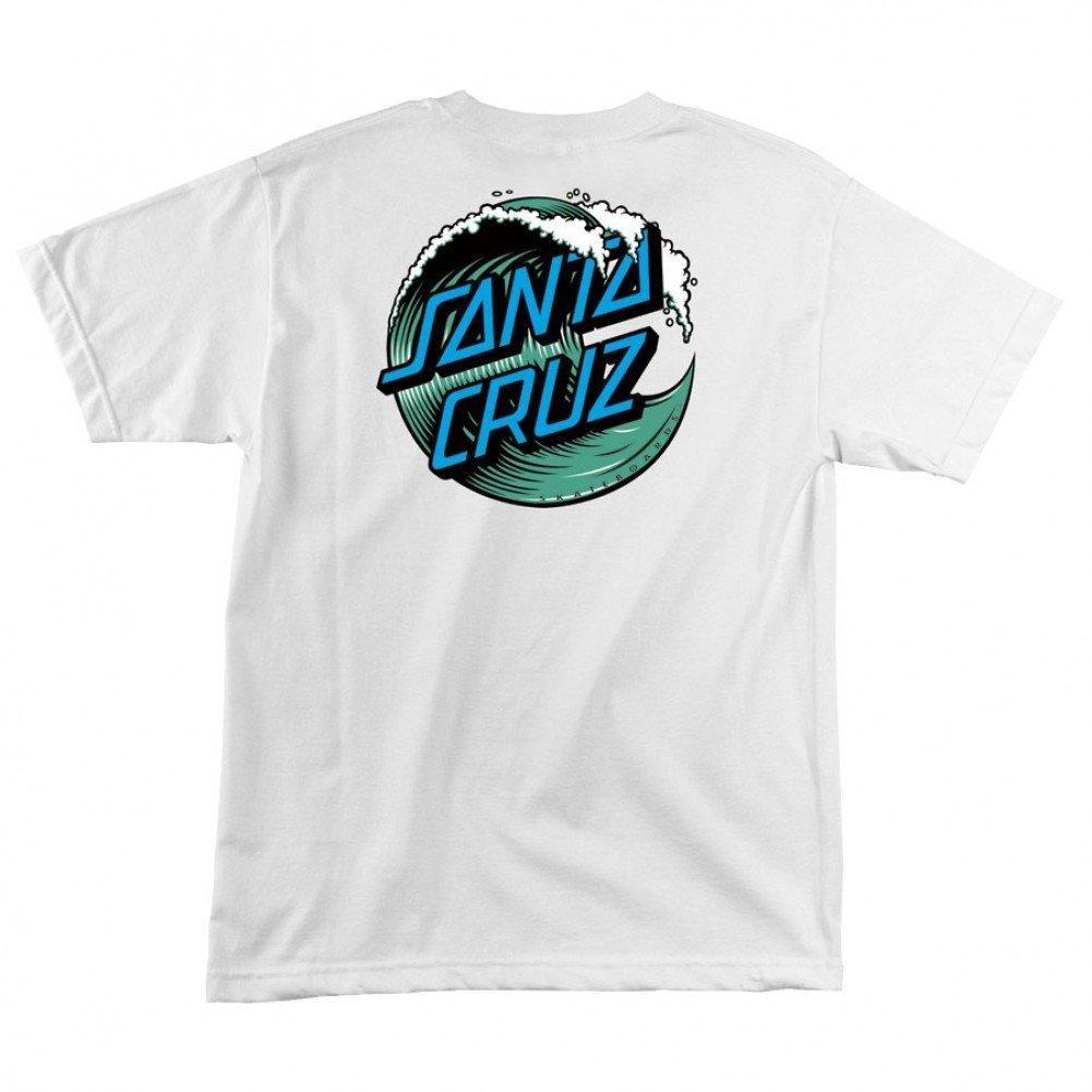 Santa Cruz Mens Wave Dot Short-Sleeve Shirt