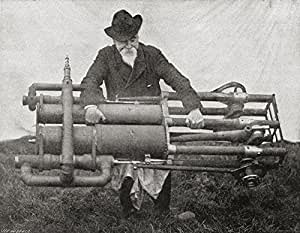 Hiram Maxim Holding One of His Flying Machine Engines, Weighing 300Lb One of The Lightest Engines of It's Time. Sir Hiram Stevens Maxim, 1840 Poster Print (17 x 13)