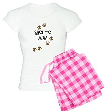 CafePress Sheltie Mom Womens Light Pajamas - Womens Novelty Cotton Pajama Set, Comfortable PJ Sleepwear