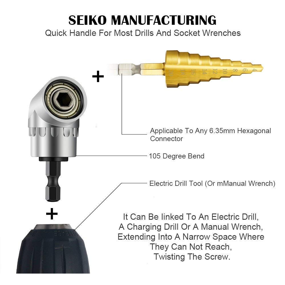 3Piece Cr-V1//43//81//2Hex Shank Bit Square Nut Driver Set Power Drill Cordless Impact Sockets Bit Set Adapter,Impact Driver Bit Set,Drill Bits Set,Socket Wrench Set Ratchet Extension