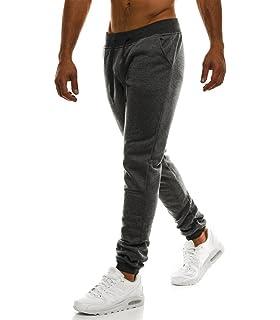 d6d4f69cc7990 MonsieurMode - Pantalon Jogging pour Homme Jogging 33 Gris foncé - Gris