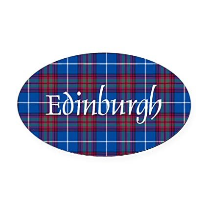 Amazon Com Cafepress Tartan Edinburgh Dist Oval Car Magnet