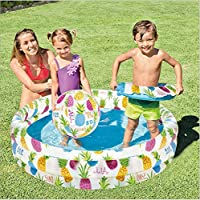 Intex Swimming Pool Inflatable Outdoor Water Game Play Center with Marine Ball Swim Ring for Children Kids Adult
