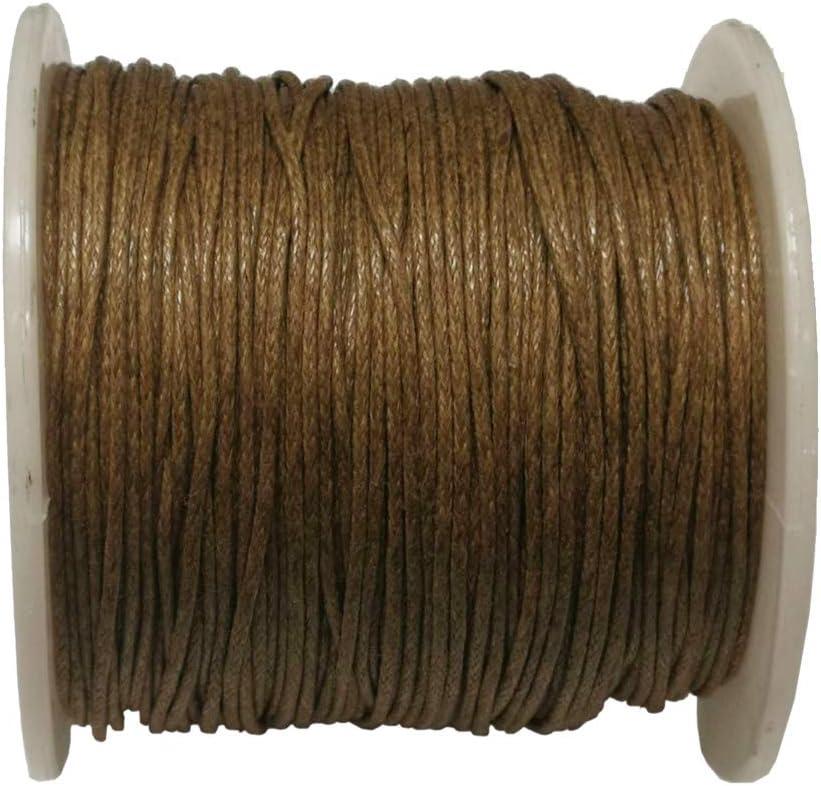 cuerda para joyas Perlin C166 75 m 1 mm hilo de algod/ón de cera de color verde Cord/ón de algod/ón encerado cinta para perlas y joyas